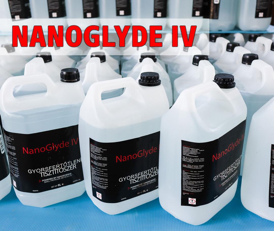NANOGLYDE IV gyorsfertőtlenítő tisztítószer