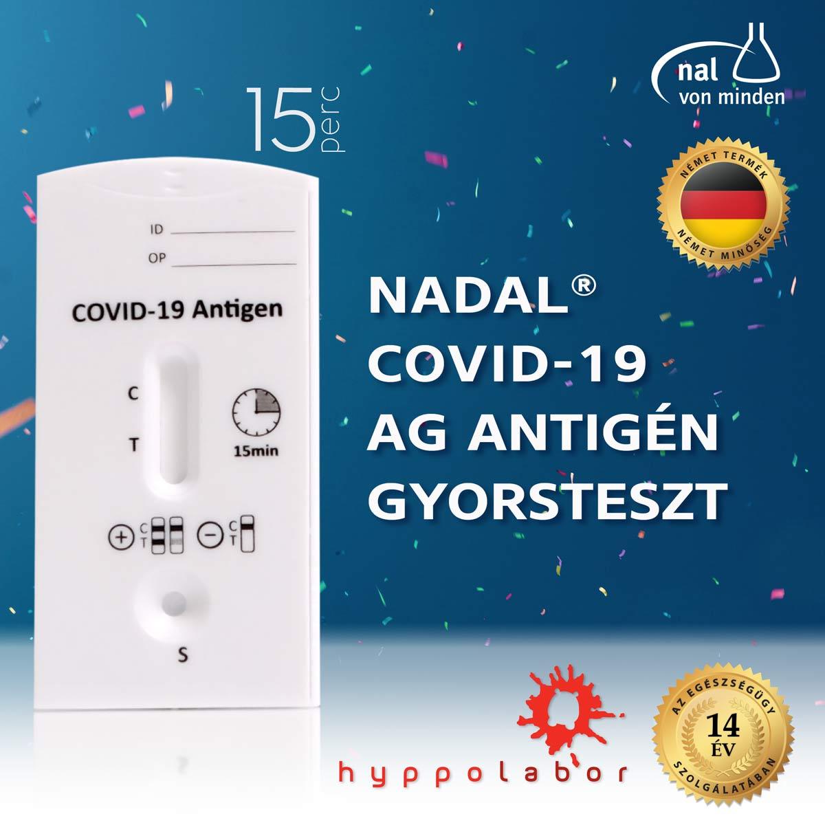 NADAL® COVID-19 AG ANTIGÉN GYORSTESZT - HYPPOLABOR NADAL® COVID-19 Ag antigén gyorsteszt