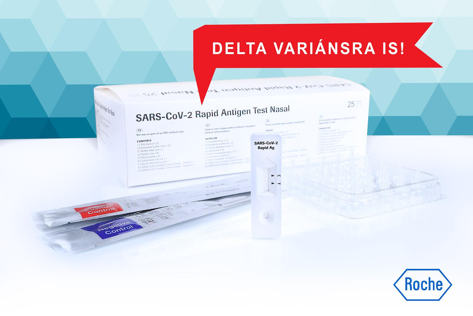 ROCHE SARS-CoV-2 Rapid Antigen Test Nasal Delta variáns tesztelésre is!