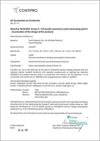Sorelex Directive 93/42/EEC Annex II - Full quality assurance system