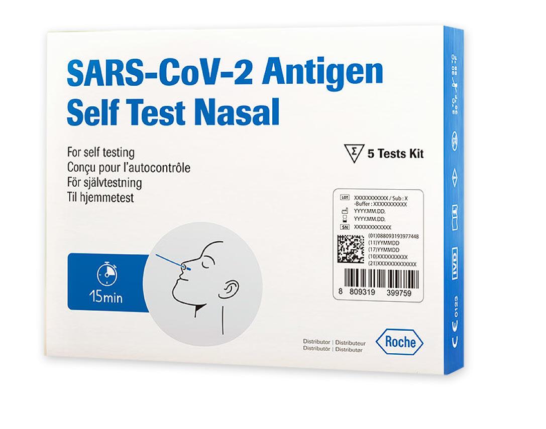 ROCHE SARS-CoV-2 Antigen Self Test Nasal