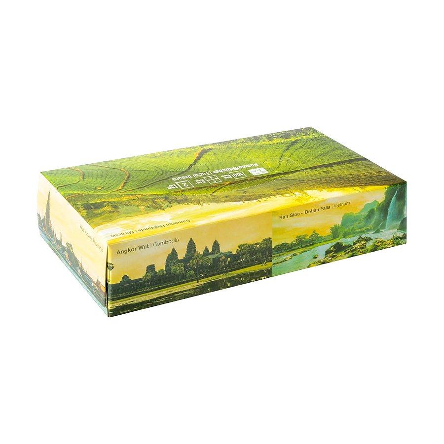 Kozmetikai papírzsebkendő - 100 darabos