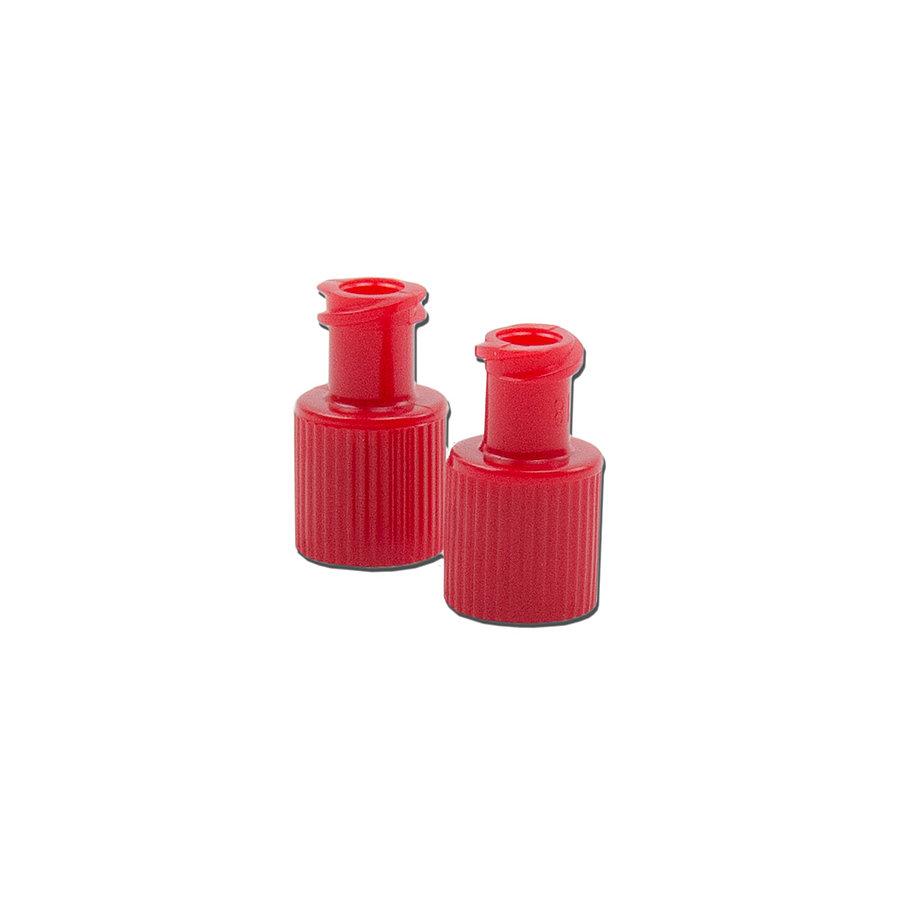 Kombinált Luer dugó, kék / vörös / fehér