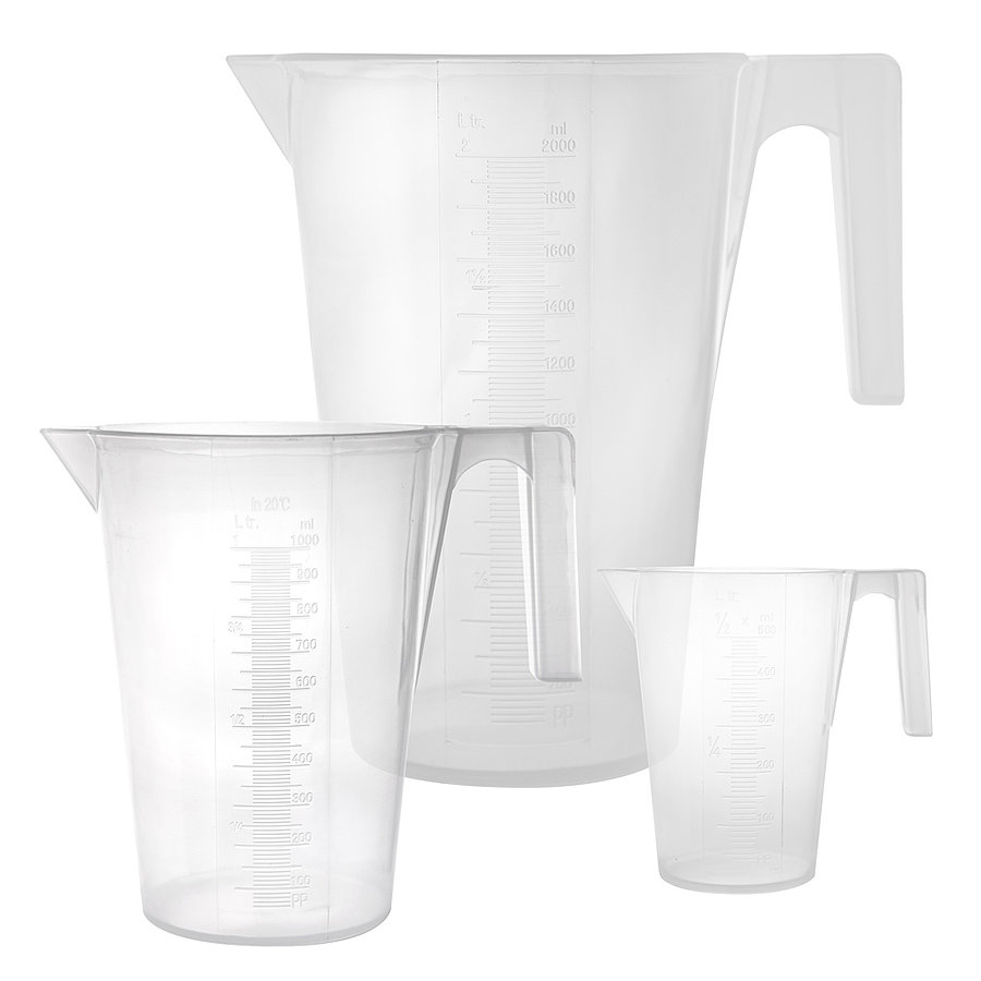 Műanyag mérőkancsó - 500 - 1000 - 2000 ml