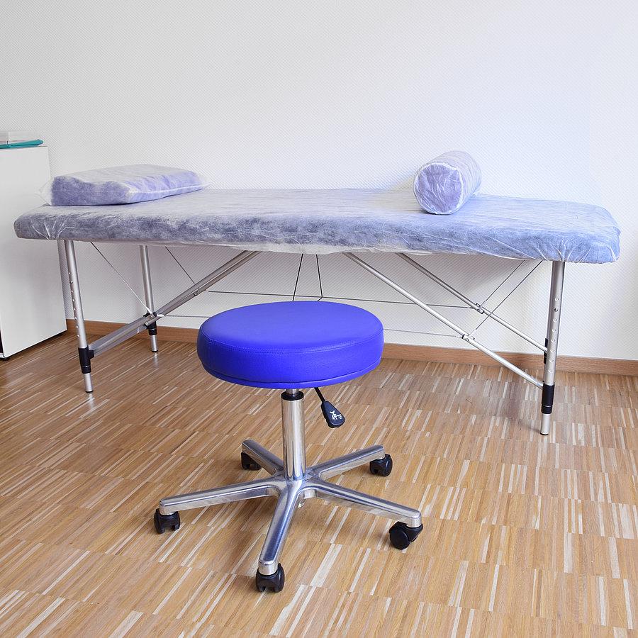 Egyszer használatos gumis védőhuzat orvosi vizsgálóágyra