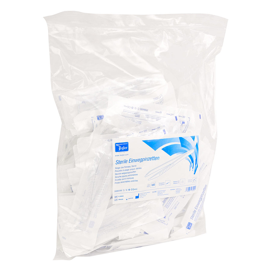 Műanyag csipesz - egyszer használatos 12,5 cm