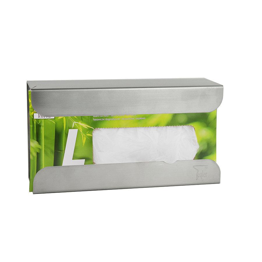 Rozsdamentes acél kesztyűadagoló 1 dobozhoz