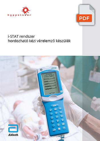 i-STAT rendszer hordozható kézi vérelemző készülék