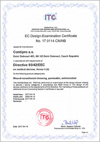 Sorelex - EC Design-Examination Certificate 17 0114 CN/NB
