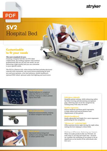 Stryker Versatile SV2 kórházi betegágy brossura EN